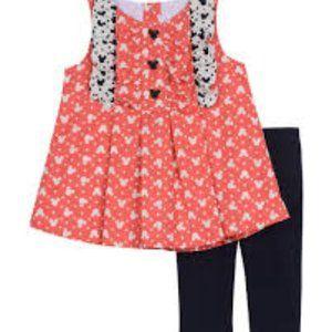 NWT! Disney x Pippa Pink Shirt Leggings SET